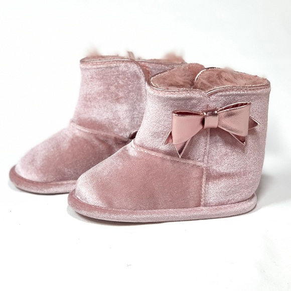 Aldo Baby Boots In Pink Crib Shoes
